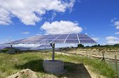 stock photo of production  - photovoltaic panel for renewable electric production energy - JPG