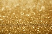 foto of blinking  - Holiday abstract glitter background with blinking lights - JPG