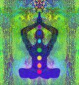 pic of padmasana  - Yoga man in lotus pose - JPG
