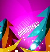 picture of merry chrismas  - Colorful bright Chrismas card - JPG