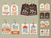 pic of free-trade  - Collection of vintage tags or labels for Big Summer Sale with special discount offers - JPG