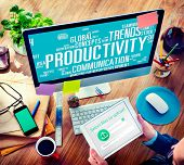 picture of efficiencies  - Productivity Vision Idea Efficiency Growth Success Solution Concept - JPG