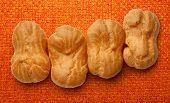 image of eclairs  - Pastry dough eclairs with vanilla cream inside - JPG