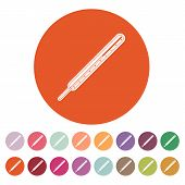 picture of thermometer  - The medical thermometer icon - JPG