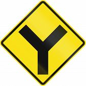 foto of intersection  - Chilean road warning sign - JPG