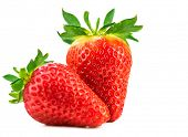 stock photo of strawberry  - Strawberries isolated on a white background - JPG
