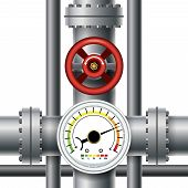 picture of valves  - Gas pipe valve - JPG