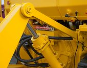 image of hydraulics  - Detail of hydraulic bulldozer piston excavator arm - JPG