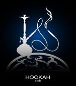 foto of shisha  - Hookah flyer vector for cafe and a hookah pipe - JPG