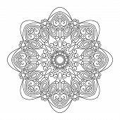 stock photo of mehendi  - Beautiful Deco Mandala  - JPG