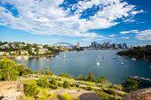 foto of cbd  - The Sydney CBD and surrounding harbour over Berrys Bay - JPG