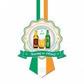 picture of beer mug  - Brewed in Ireland  - JPG