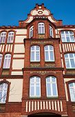 stock photo of art nouveau  - Clinker on the facade of the Art Nouveau building in Poznan - JPG