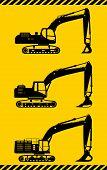 foto of heavy equipment  - Detailed illustration of excavators - JPG