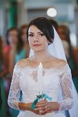 stock photo of ceremonial clothing  - beautiful and happy moments of the wedding ceremony - JPG