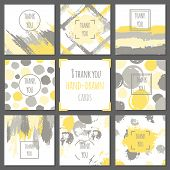 image of thankful  - Set of thank you cards - JPG