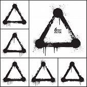 Vector Grunge Shapes Set poster