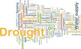 image of drought  - Background concept wordcloud illustration of drought - JPG