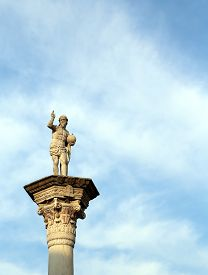 pic of vicenza  - statue of Jesus Redeemer with the world in your hand In Vicenza City VI Italy - JPG