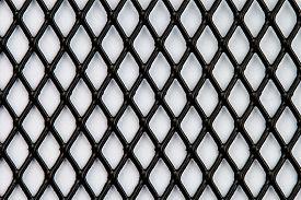 stock photo of grating  - black steel grating pattern on white background - JPG