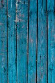 Cracked Weathered Blue Shabby Chic Painted Wooden Board Texture, Front View poster