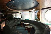 Magnificent interiors of a bar on cruise the ship