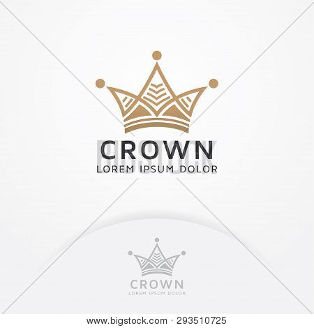Unusual Vector Gold Crown For