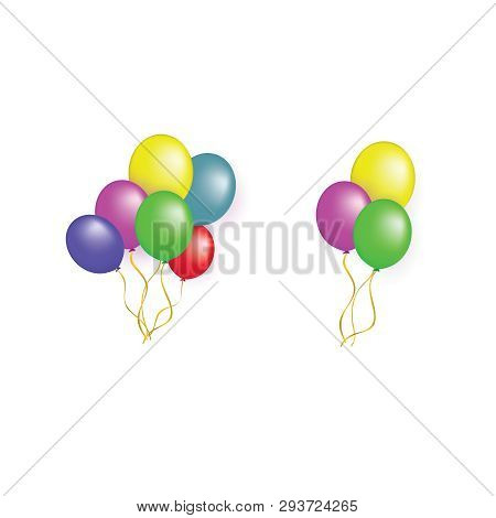 Balloons Group Isolated Vector Graphic