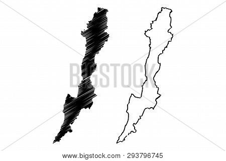 poster of Capital District (colombia, Republic Of Colombia, Departments Of Colombia) Map Vector Illustration,
