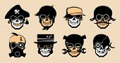 image of breather  - Cartoon freak icons in steampunk style - JPG