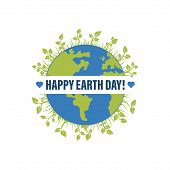 Happy Earth Day Banner Illustration Of A Happy Earth Day Banner, For Environment Safety Celebration poster