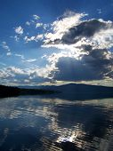 image of woodstock  - The beautiful Ashokan Reservoir just outside of Woodstock NY taken from my fishing boat at about 5 - JPG