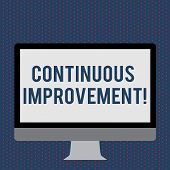 Text Sign Showing Continuous Improvement. Conceptual Photo Involves Small Consistent Improvements Ov poster