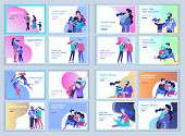 Set Of Landing Page Templates Happy Family, Travel And Psychotherapy, Family Health Care, Goods Ente poster