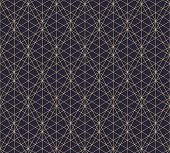 Vector Golden Lines Texture. Abstract Geometric Seamless Pattern With Delicate Grid, Lattice, Net, T poster