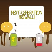 Handwriting Text Next Generation Firewall. Concept Meaning Combining Firewall With Other Network Fil poster