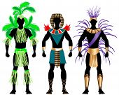 picture of loin cloth  - Vector Illustration of three male Costumes for Festival Mardi Gras Carnival Halloween or more - JPG