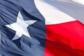 Bandeira do Texas close-up