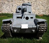 pic of panzer  - Panzer Kampfwagen 2 german tank from WW2 placed on open field of military museum in Belgrade - JPG