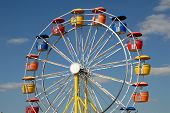pic of ferris-wheel  - Colorful ferris wheel in an amusement park - JPG