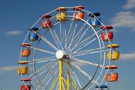 picture of ferris-wheel  - Colorful ferris wheel in an amusement park - JPG