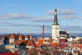 foto of olaf  - Cityscape panorama of Old Tallinn Estonia - JPG