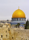 foto of aqsa  - Wailing Wall and Al Aqsa Mosque in Jerusalem Israel - JPG