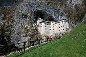 foto of jousting  - The historic Predjama Grad castle in Slovenia which dates back to the twelfth century - JPG