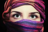 picture of hijabs  - Portrait of beautiful green - JPG