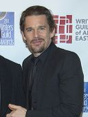 NEW YORK-FEB 1: Actor Ethan Hawke attends the 66th Annual Writers Guild Awards Ceremony at the Ediso