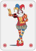 pic of joker  - Joker in colorful costume playing card - JPG