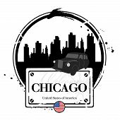 image of illinois  - Stamp Chicago - JPG