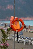 picture of cleopatra  - The lifebuoy on the beach of Cleopatra in Alanya - JPG