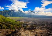 pic of bromo  - Path to Mount Bromo volcano East Java Indonesia - JPG
